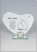 Her Smile Memorial Poem & Photo Candle Holder