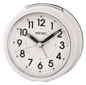 Seiko Alarm Clock Analogue Weiss Ear QHE125W