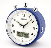 Seiko . Blue finish Clock Beep Alarm Chronograph Stopwatch Timer Function