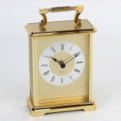 Gold Colour Gilt Design Roman Numerals Carriage Clock