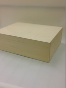Unpainted Natural Wooden Box Souvenir A4 Size Memory Box Magazine Documents Storage Case