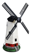 Kingfisher Traditional Windmill Wind Powered & Led Solar Light Garden Ornament