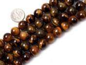 """12mm Round gemstone tiger eye stone beads strand 15"""""""