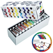 Liquitex Basics 22ml Tube Acrylic Paint 48 Colours with US Art Supply Colour Mixing Wheel