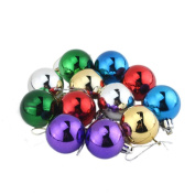 YARUIE 3.8CM Colourful Round Christmas Balls Baubles XMAS Tree Ornament Christmas Decor