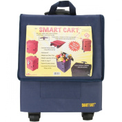 Smart Cart, BLUE Rolling Multipurpose Collapsible Basket Cart Scrapbooking