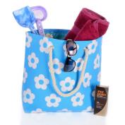 Ladies Canvas Beach Shoulder Bag Summer Holiday Tote Shopping Reuseable Handbag
