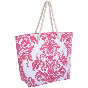 Ladies Canvas Beach Shoulder Bag Summer Holiday Tote Shopping Reuseable Handbag