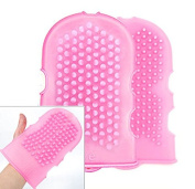 High Quality Silicone Massage Glove/cellulite Remover/ .  / Brush Glove Scrub /Pink