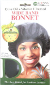 Donna Olive Oil & Vitamin E Treated Wide Band Bonnet #22044, Strengthens hair, improves hair, repairs hair, durable material, soft material, satin, organic oil