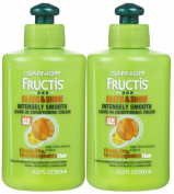 Garnier Fructis Sleek & Shine Leave-In Conditioning Cream, 300ml, 2 pk