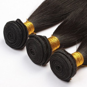 BHD-300g 3 Bundles 5A Unprocessed Brazilian Human Hair Weft Hair Extension Non Remy Hair Natural Black 8-26