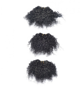Afro Jerry Curl #1b ,8 Inche 100% Human Hair,3pcs 160 Grammes