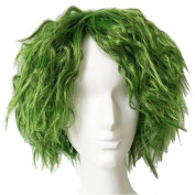 Xcoser Joker Wig The Dark Knight Joker Cosplay Short Grass Green Fluffy Curly Hair
