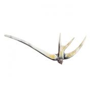Marycrafts Multicolor Swallow Bird Buffalo Horn Hair Stick Hair Pin, Hair Pick Accessory Toy Handmade 12cm