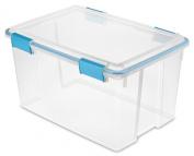 Sterilite 19344304 51.1l Gasket Box with Aquarium Accents, Blue, 4-Pack