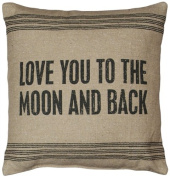 Primitives by Kathy 9-Stripe To The Moon Dark Pillow, 38cm by 39cm