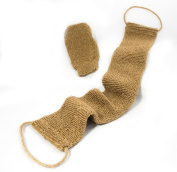 Body Scrubber, Exfoliating, All Natural Hemp, Durable, Easy Cleaning, Sanitary, Free Mitt Included