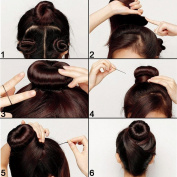 Shells® 3PCS Classy Black Round Hairdressing Tool Hair Former Donut Doughnut Ring Styling Mesh Chignon Bun Maker