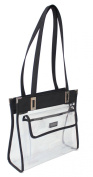Clear Stadium Handbag with Front Pocket - 30cm Wide