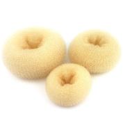 Wleec Beauty 3 Pieces Hair Donut Bun Maker, Large Medium Small Each One