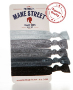 Elastic Hair Ties (GREY) ★ ! ★ Perfect For All Hair Colours From Blonde To Brown To Black And Everything In Between - Best Colour Choices Available - Prevents Ponytail Holder Headache - Heat Sealed Ends For No Fray - Holds Better Than Ribbo ..