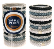 L. Erickson Grab & Go Pony Tube - Light Silver Metallic