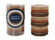L. Erickson Grab & Go Pony Tube - Neutral Metallic