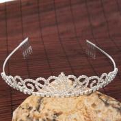 USA Seller Gorgeous Pretty Rhinestone Tiara Crown Exquisite Headband Comb Pin Wedding Bridal Birthday Tiaras