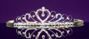 Lea - Elegant Princess Bridal Wedding Tiara Crown With Crystal Heart