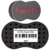 Twists Magic Barber Sponge Brush for Coils, Dreads, Twists