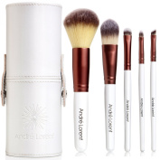 #1 PRO Makeup Brush Set With Gorgeous Designer Case - Includes 5 Professional Makeup Brushes. Backed By Lifetime Guarantee. Best Quality Brushes for Eye Makeup and Your Face - Top Choice of Pro Makeup Artists. Vegan Brushes That Last Longer, Apply Bett ..