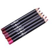 6 Colours of Italia Deluxe Lip Liner Set E - Travel Size (13cm ) Ultra Fine Pencils - Mighty Gadget Collection E