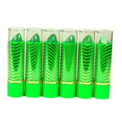Aloe Vera Colour Change Mood Lipstick Assorted Lipsticks 6 pc Green