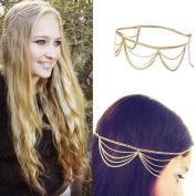 Fashion Gothic Women Ladies Crown Head Chain Headpiece Headdress Headwrap Hair Chain