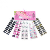 PUEEN 3D Jewelled Nail Wraps Collection JOIN OUR PARTY - 5 Pack (18 Strips Each) Nail Wraps / Nail Strips / Nail Foils / Nail Stickers / Nail Decals / Nail Patches in New High Fashion Designs-BH000195