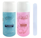 Gelish Cleanser and Remover/ Soak Off Artificial Nail Remover Combo + Bonus Manicure File