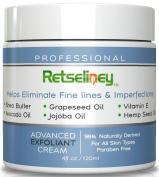 Retseliney Best Professional Vegan Natural Microdermabrasion Exfoliant Cream, Anti Ageing Facial Scrub with Jojoba Oil, Shea Butter and Vitamin E, Smooth Away Fine Lines, Wrinkles and Dark Spots