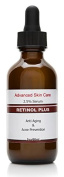 Retinol 2.5% with Vitamin C Serum 20% , Salicylic Acid 2%, 3.5% Niacinamide B3, 10% MSM and Tea Tree Oil - Anti Ageing and Skin Clearing Serum for Face, Acne & Blemishes , Best Wrinkle Cream 2.oz