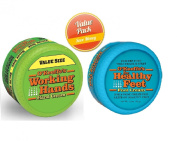 O'Keeffe's Working Hands 200ml Value Size Jar - Healthy Feet Cream 90ml Jar, Combo Set
