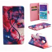 Sandistore Unique Flip Leather Case Cover For Samsung Galaxy Note 4