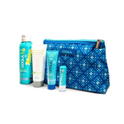 Coola 4 Piece Suncare Travel Set - Pina Colada Sunscreen Spray, After Sun Lotion, Sunscreen, Lip Balm, 1 Set