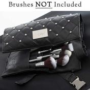 Nanshy Makeup Artist Brush Belt Apron for Makeup Brushes and Tools with Long Belt an Alternative to Brush Holder