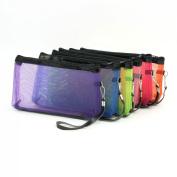 Aimeart Ladies 6 Piece Mesh Design Zipper Makeup Bag, Multi Colour