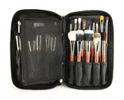 Multifunction Fabrics Makeup Brush Zipper Folio Case Cosmetic Handbag For Travel