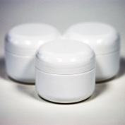 White Plastic Jar with Dome Lid 60ml