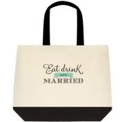 """""""Eat, Drink & Be Married"""" Wedding Bride Tote Bag"""