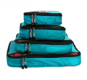 Pro Packing Cubes - 4 Piece Lightweight Travel Packing Cubes Set - Organisers and Compression Pouches System for Carry-on Luggage Accesories, Suitcase and Backpacking