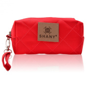 SHANY Cosmetics Limited Edition Mini Tote Bag and Travel Makeup Bag, Cherry Red