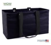 "MDM Large Utility Tote Bag, Organiser, Laundry Bag ""Black & Black"""
